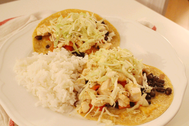 Black Bean & Fish Tacos