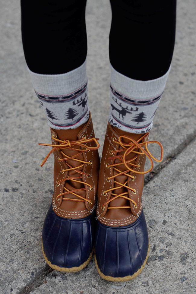 Navy Bean Boots