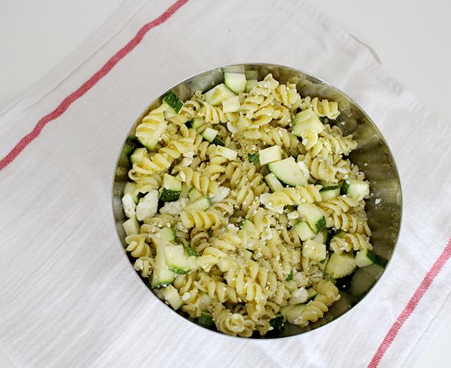 Zucchini & Pesto Pasta Salad
