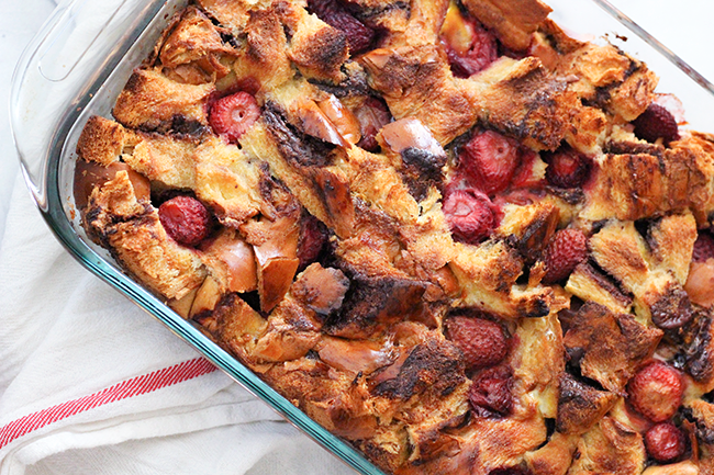 French Toast Casserole with Nutella & Berries