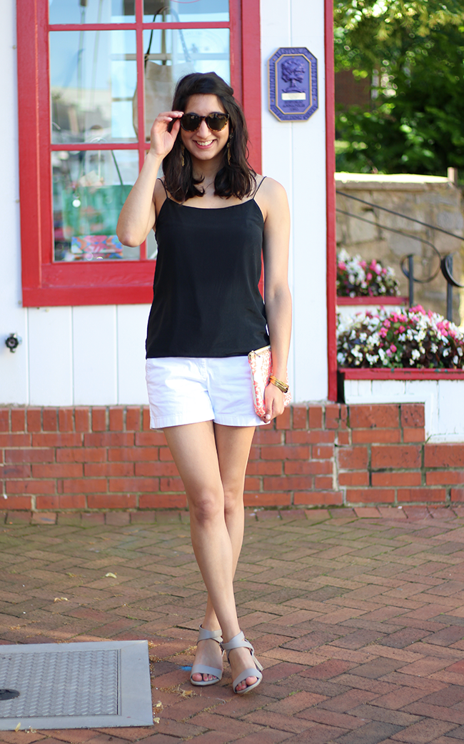 Black and white outfit with M Gemi Sandals styled by popular DC fashion blogger, Monica Dutia