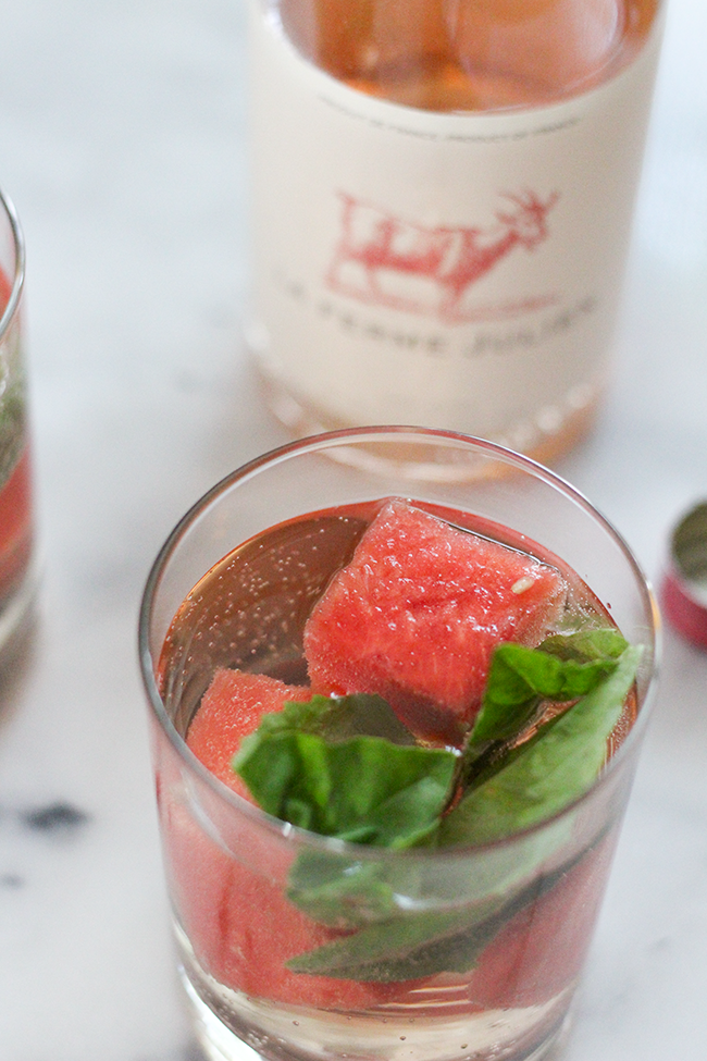 Rosé Watermelon Basil Cocktail