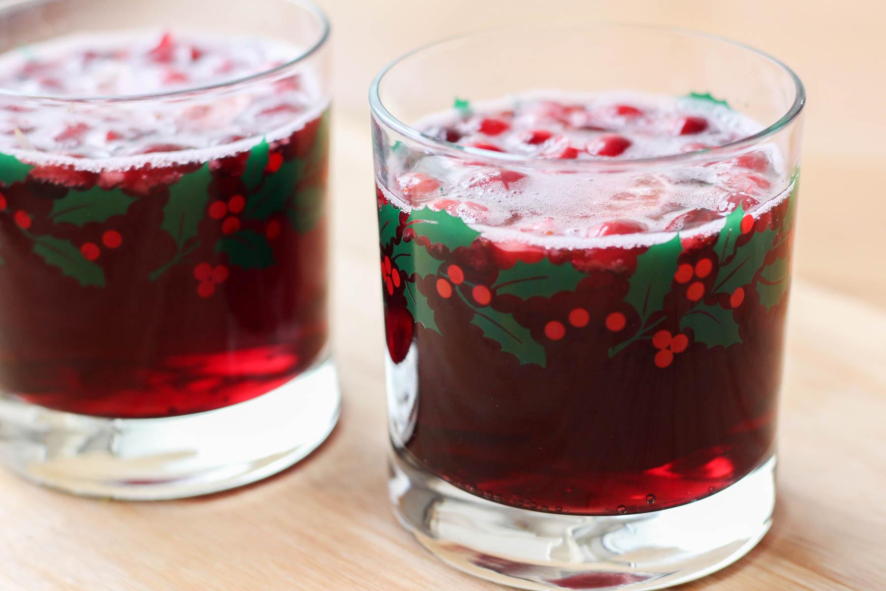 Holiday wine spritzer recipe