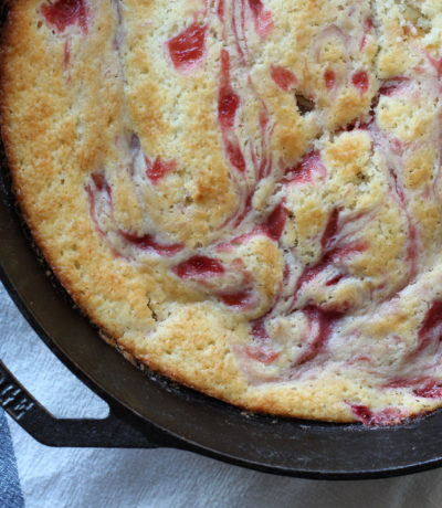 Lost Kitchen Rhubarb Spoon Cake
