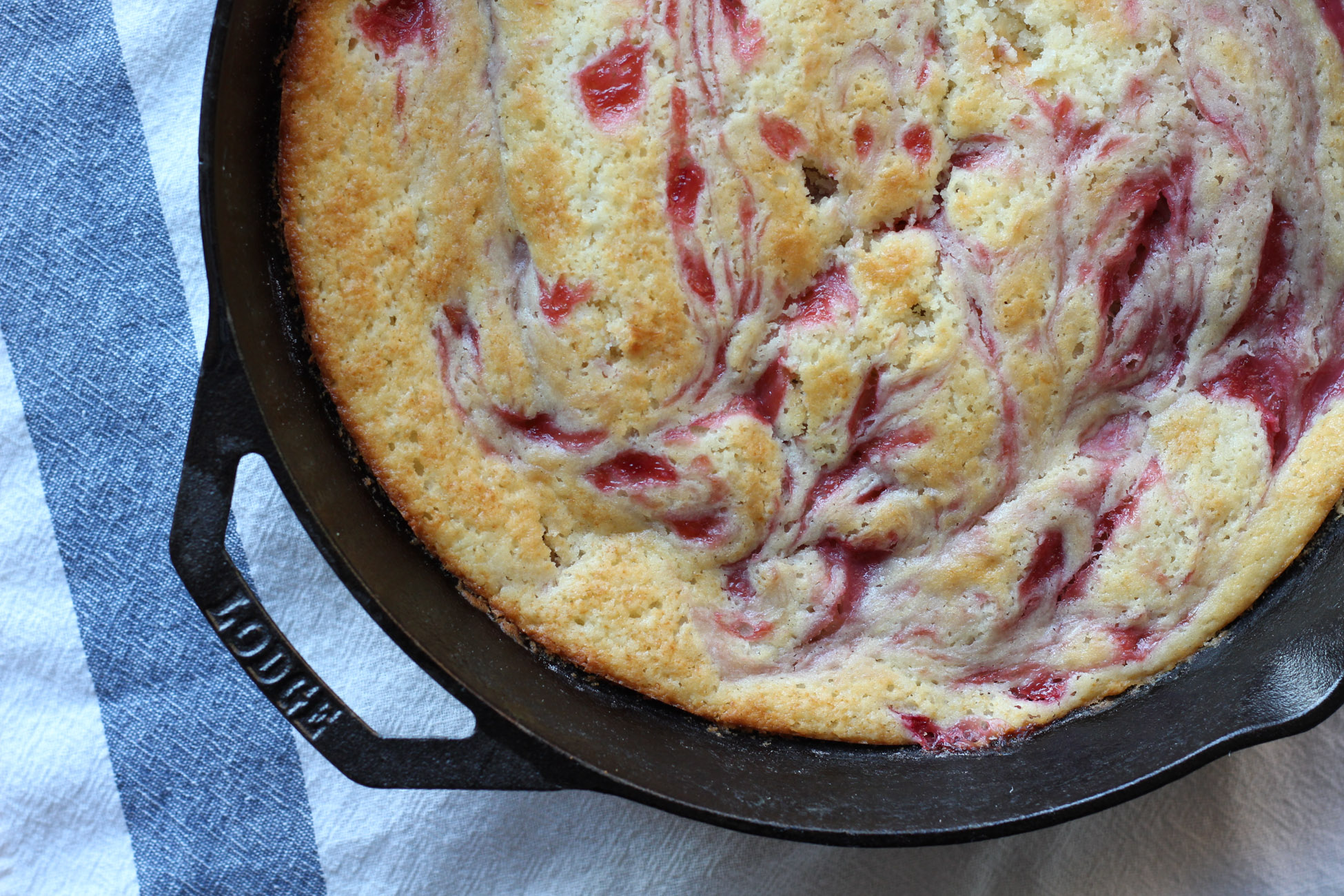 Lost Kitchen Rhubarb Spoon Cake