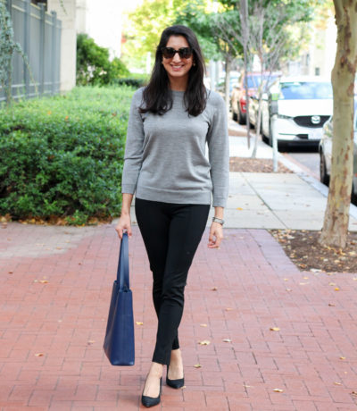Everlane Day Market Tote styled by popular Washington DC style blogger, Monica Dutia