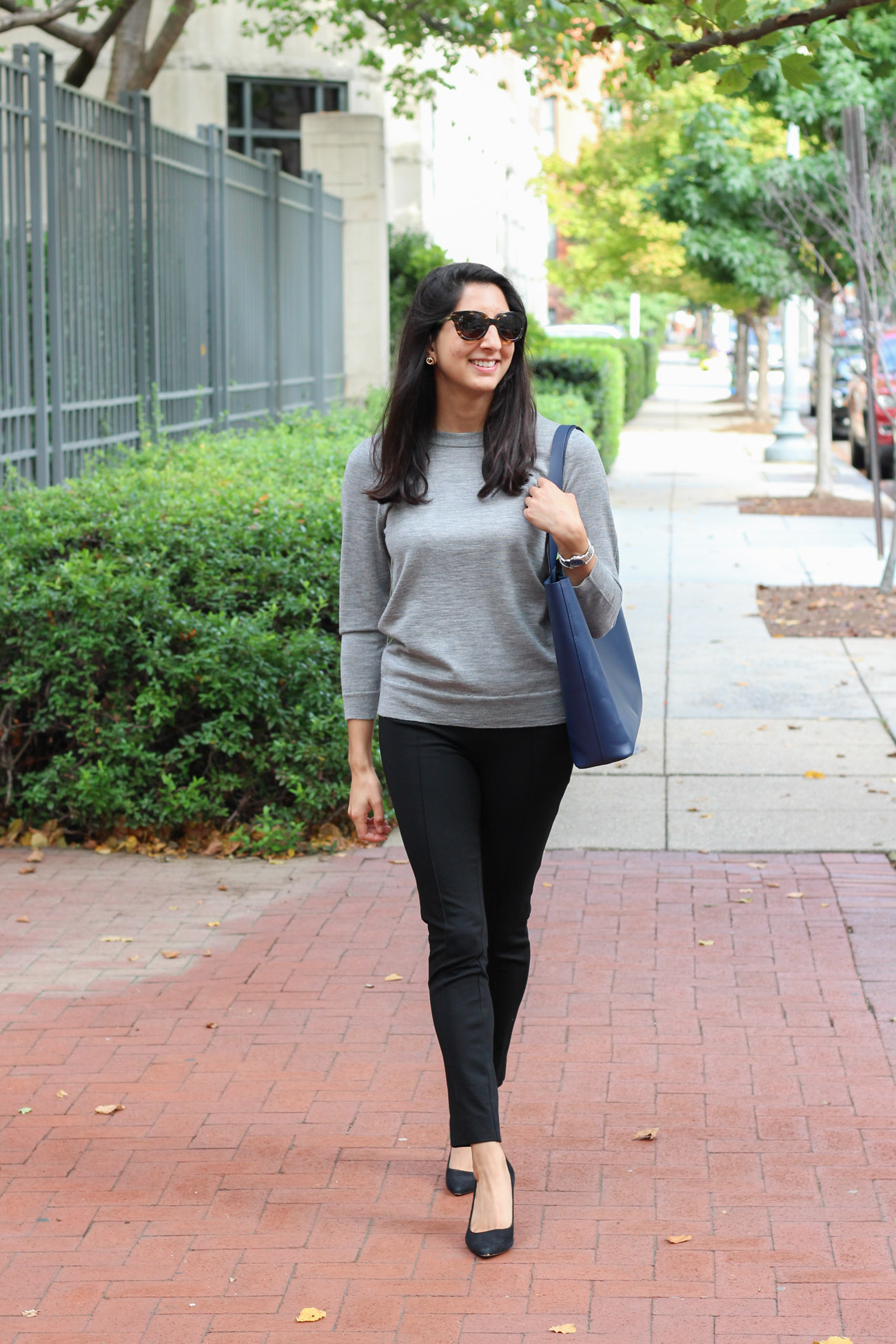 Everlane workwear outfit - Everlane Day Market Tote styled by popular Washington DC style blogger, Monica Dutia