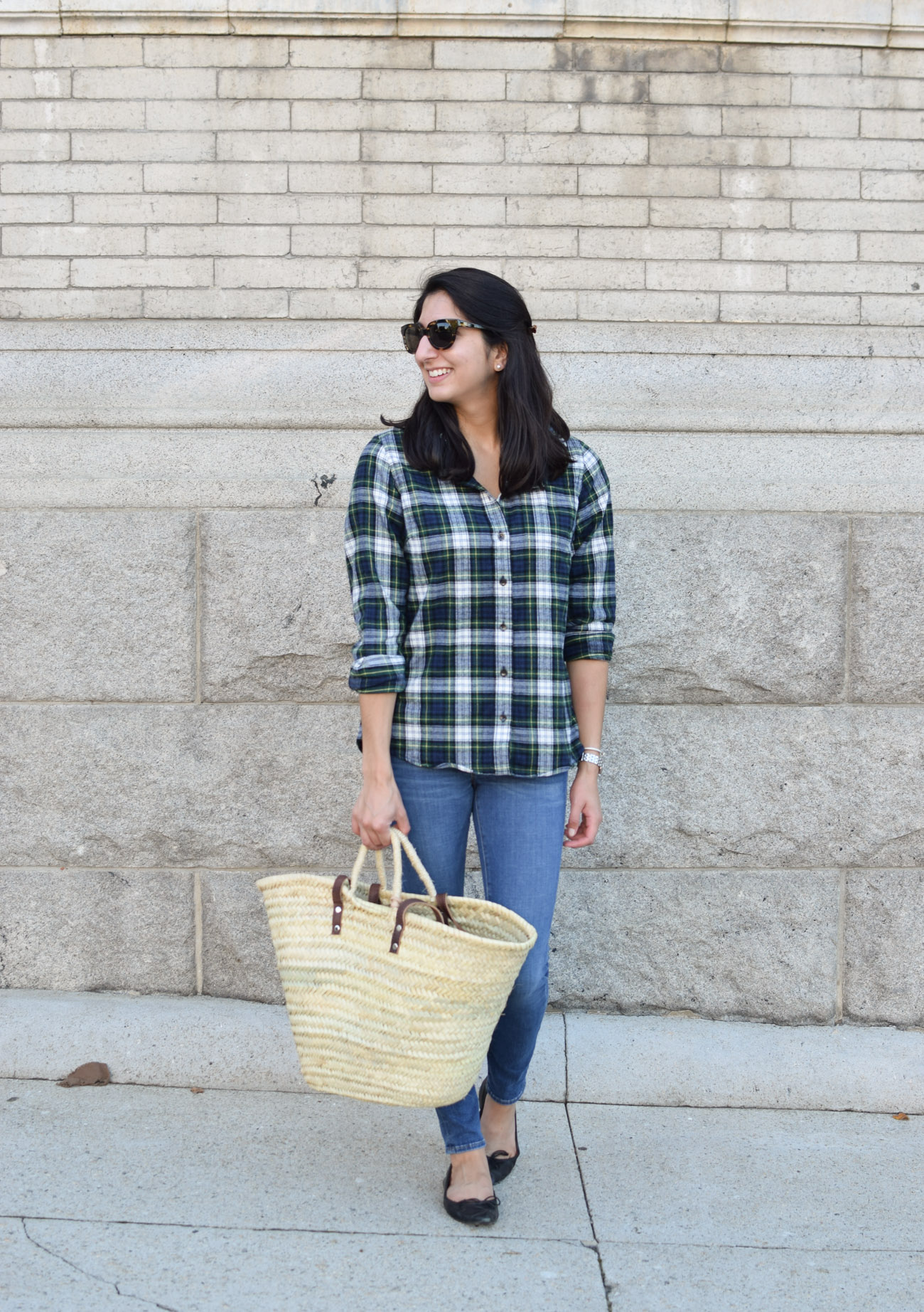 L.L. Bean fitted flannel