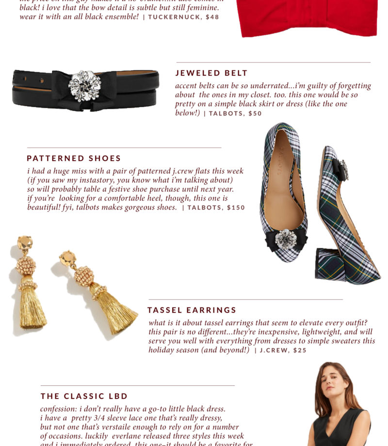 How to dress up a basic outfit for the holidays