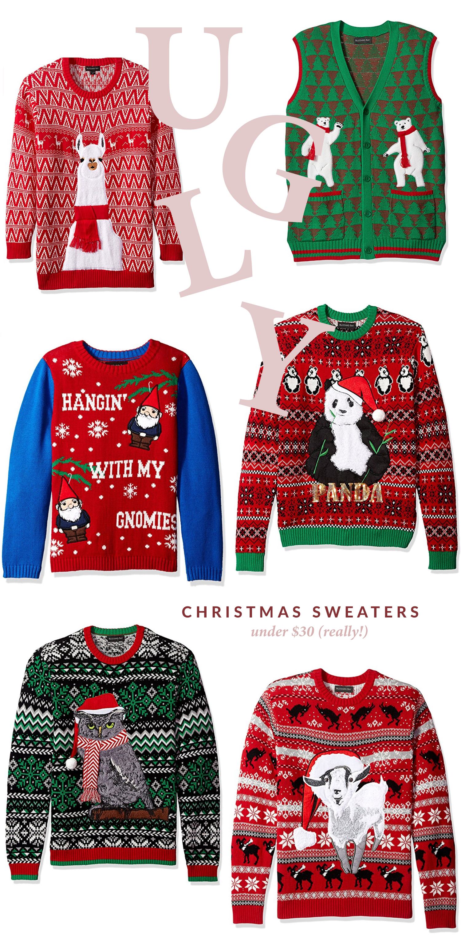Ugly Christmas Sweaters Under $30