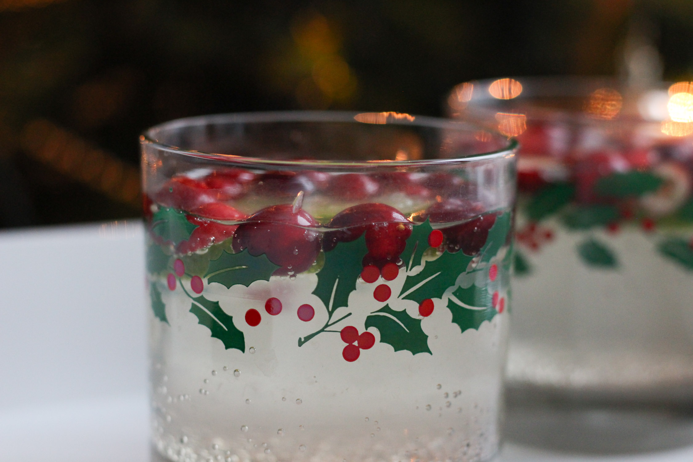 Cranberry Lime White Wine Spritzer
