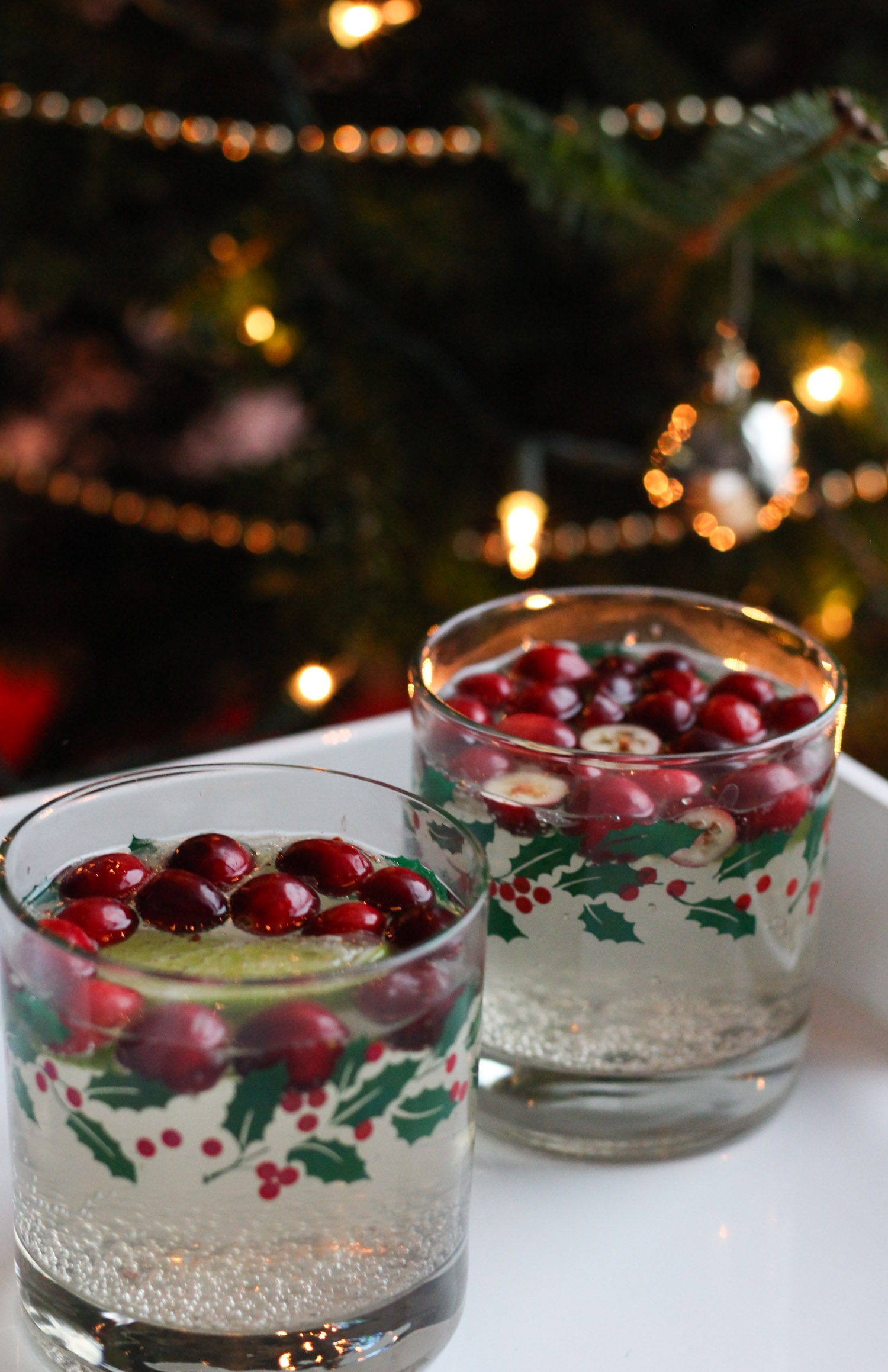 Cranberry Lime White Wine Spritzer