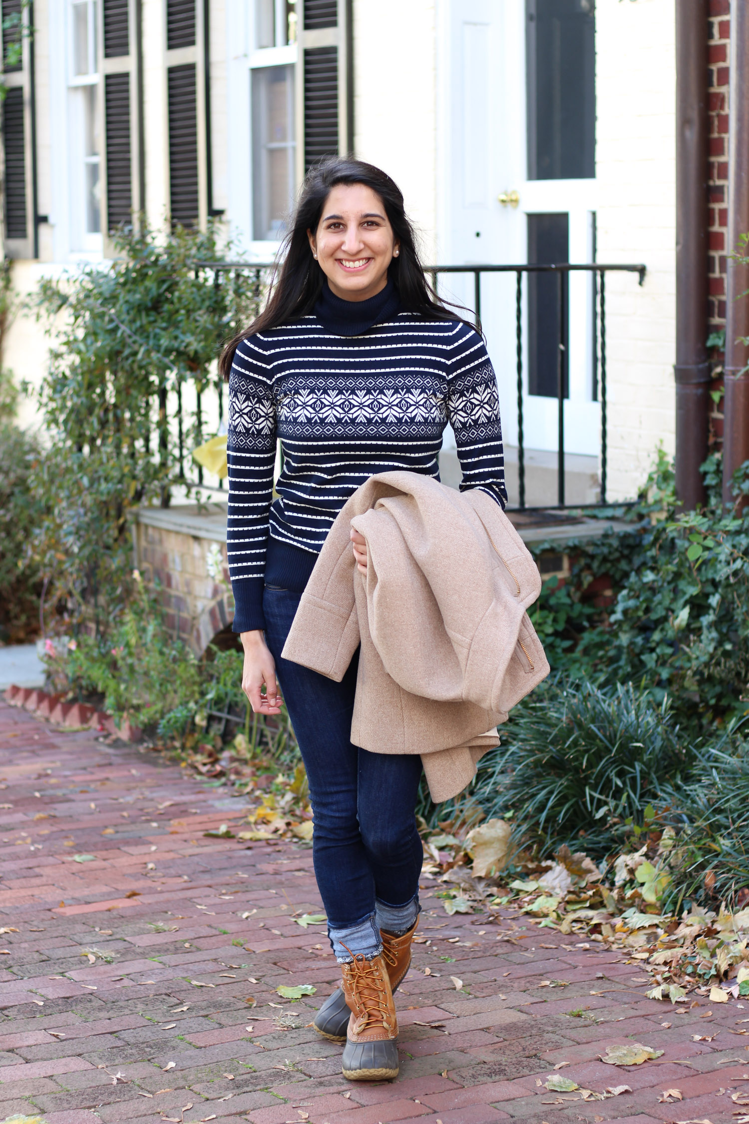 L.L. Bean turtleneck sweater