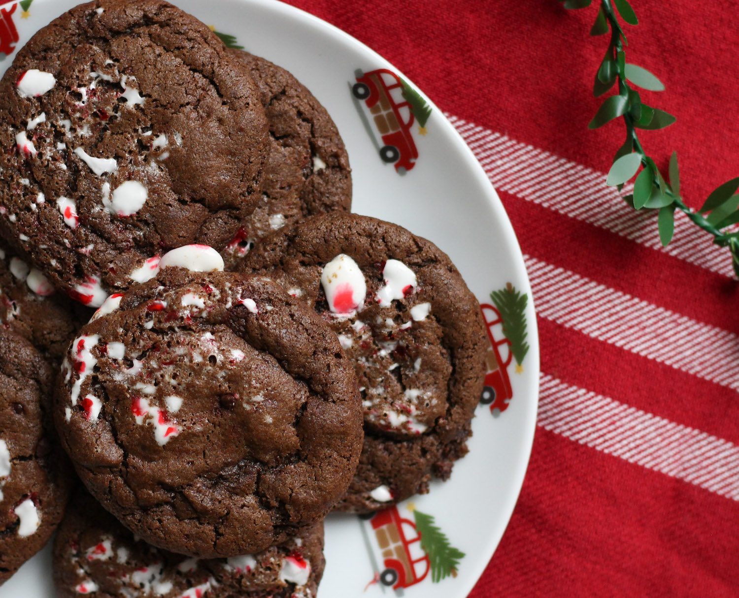 Peppermint Double Chocolate Cookies