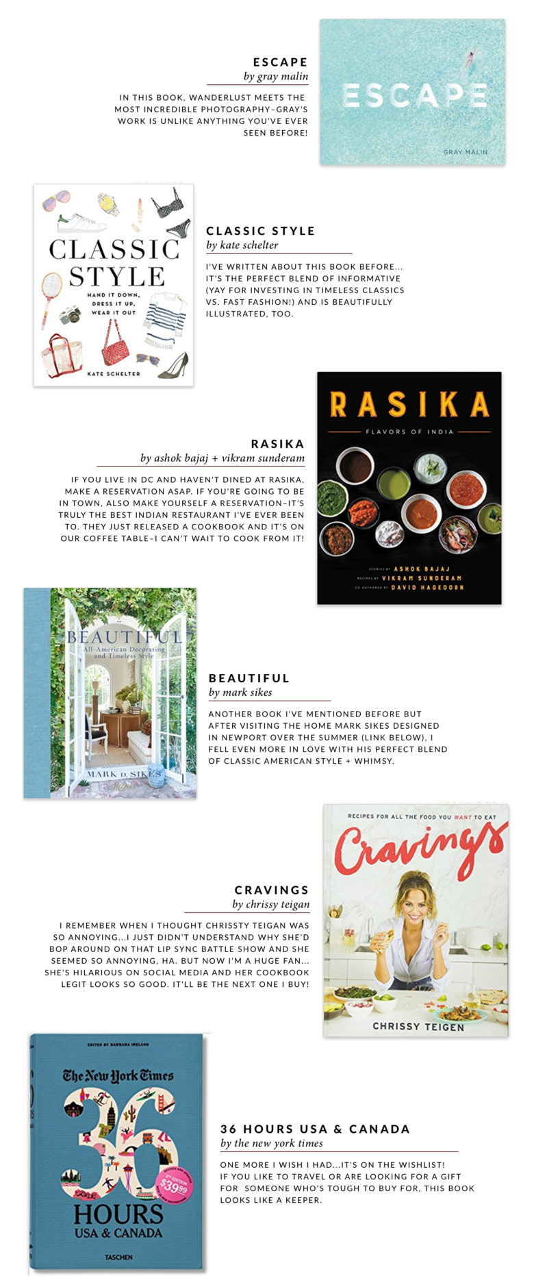 Current Coffee Table Books To Love