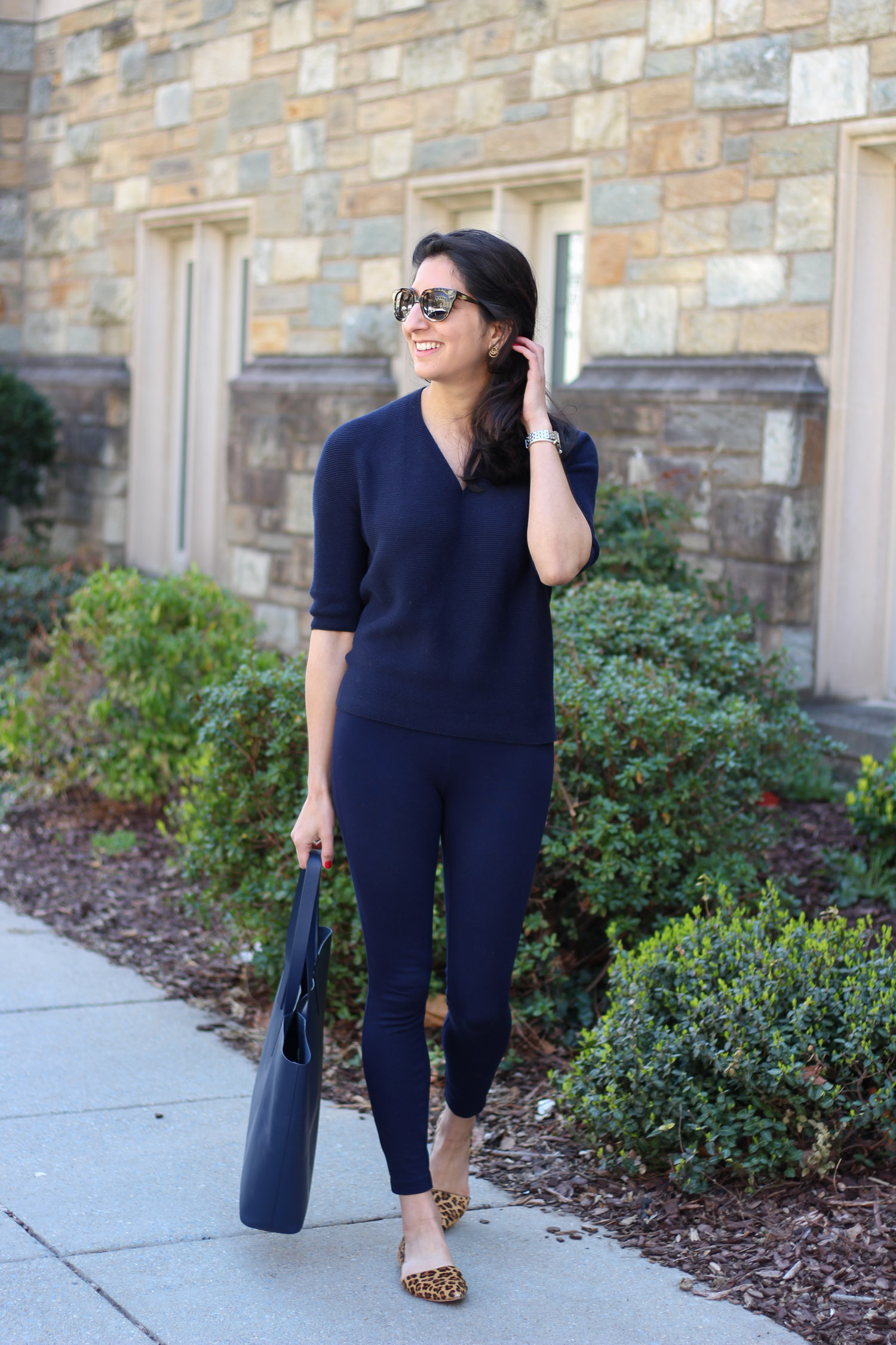 All navy outfit - All navy outfit featured by popular DC fashion blogger, Monica Dutia