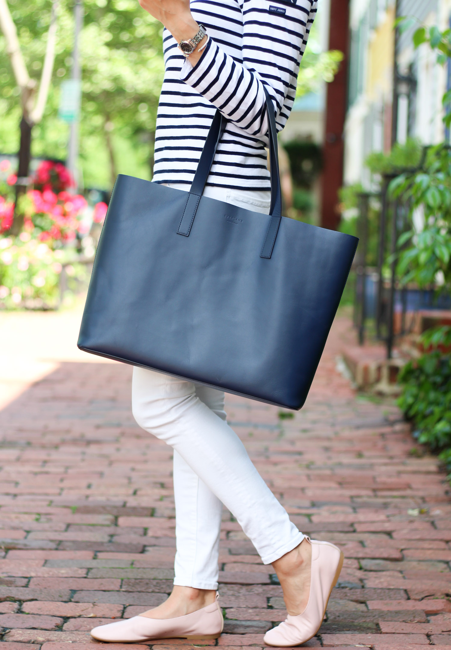 Everlane Day Tote - Royal Wedding Thoughts + Comfy Leather Flats featured by DC Style Blogger, Monica Dutia