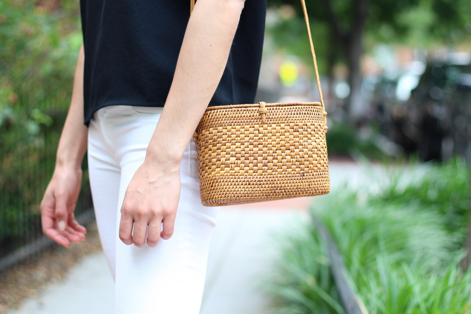 Woven summer bag - Summer Thoughts + Style featured by popular DC fashion blogger, Monica Dutia