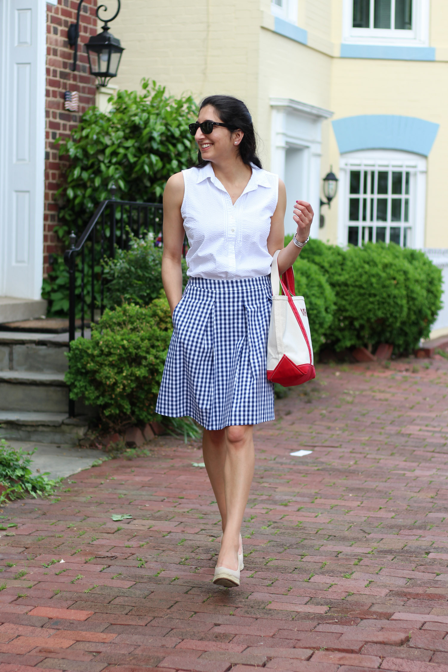 Gingham Skirt + A Mini Fitness Update featured by popular DC fashion blogger Monica Dutia