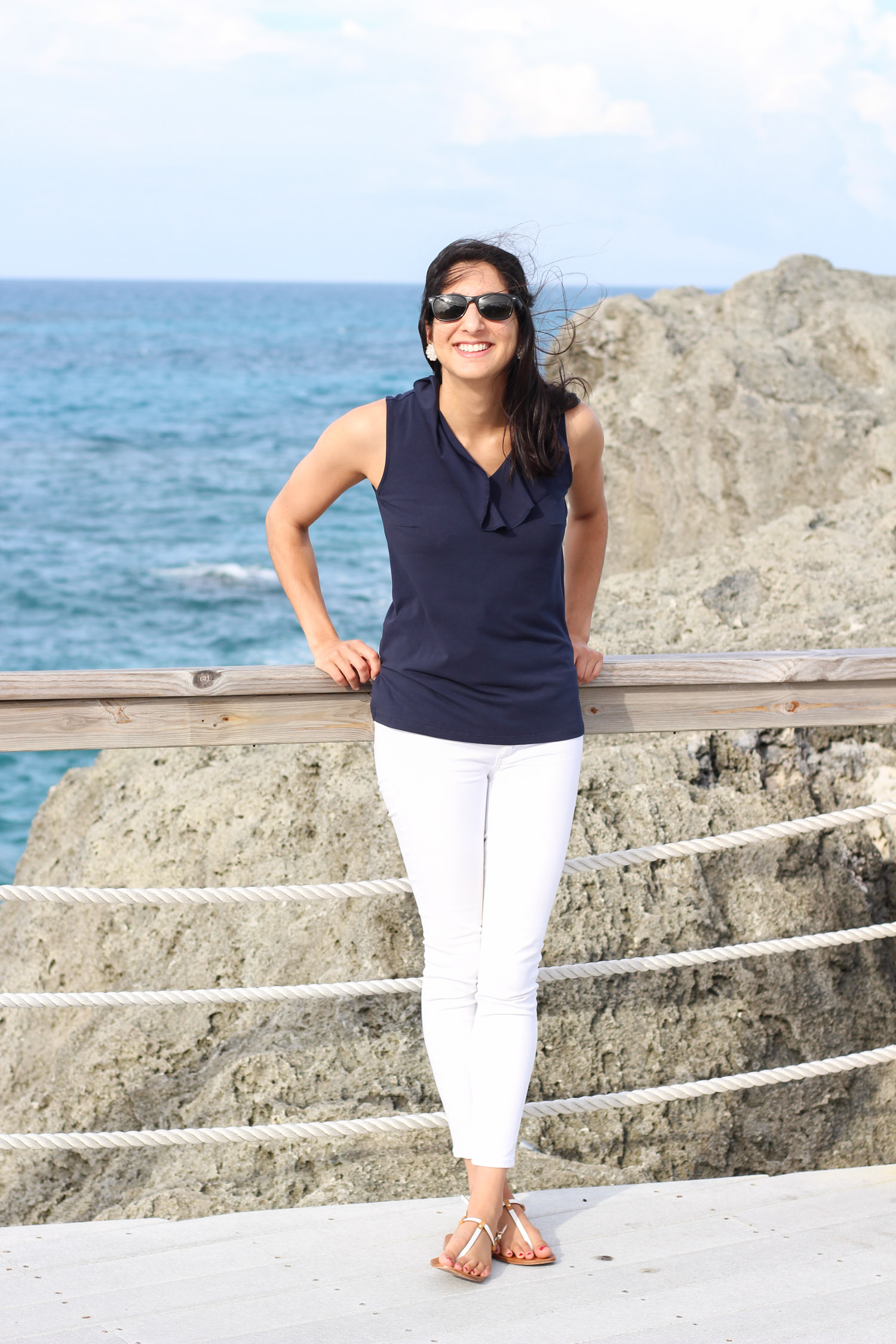 Navy and white summer style
