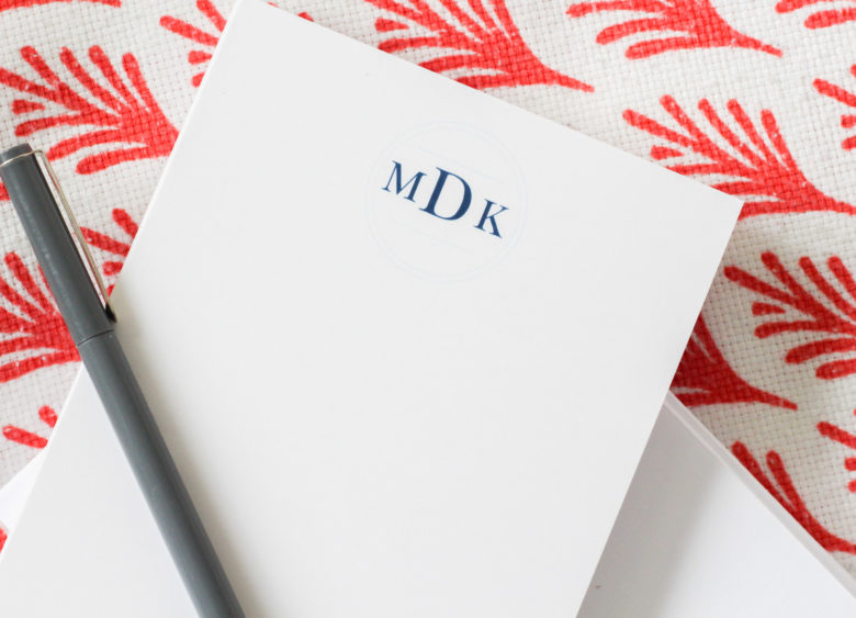 Basic Invite personalized stationery featured by popular life and style blogger, Monica Dutia