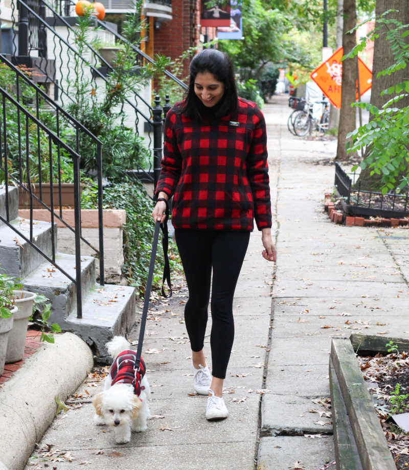 LL Bean Sweater Fleece review by DC fashion blogger, Monica Dutia