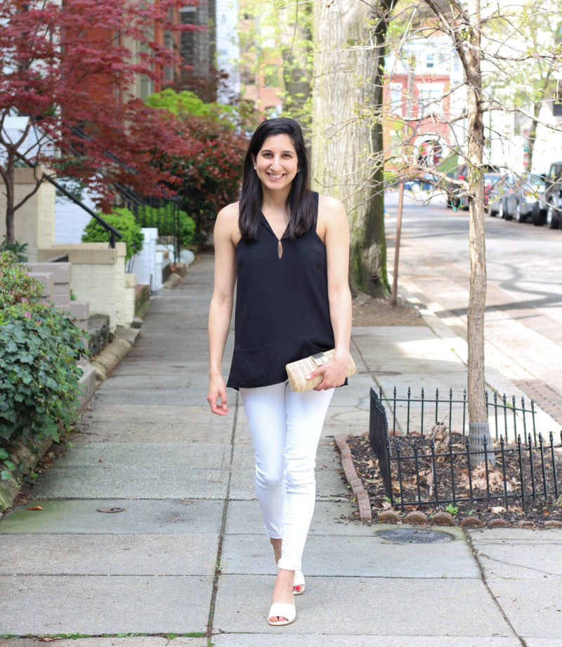 Cute spring outfit with Everlane shoes