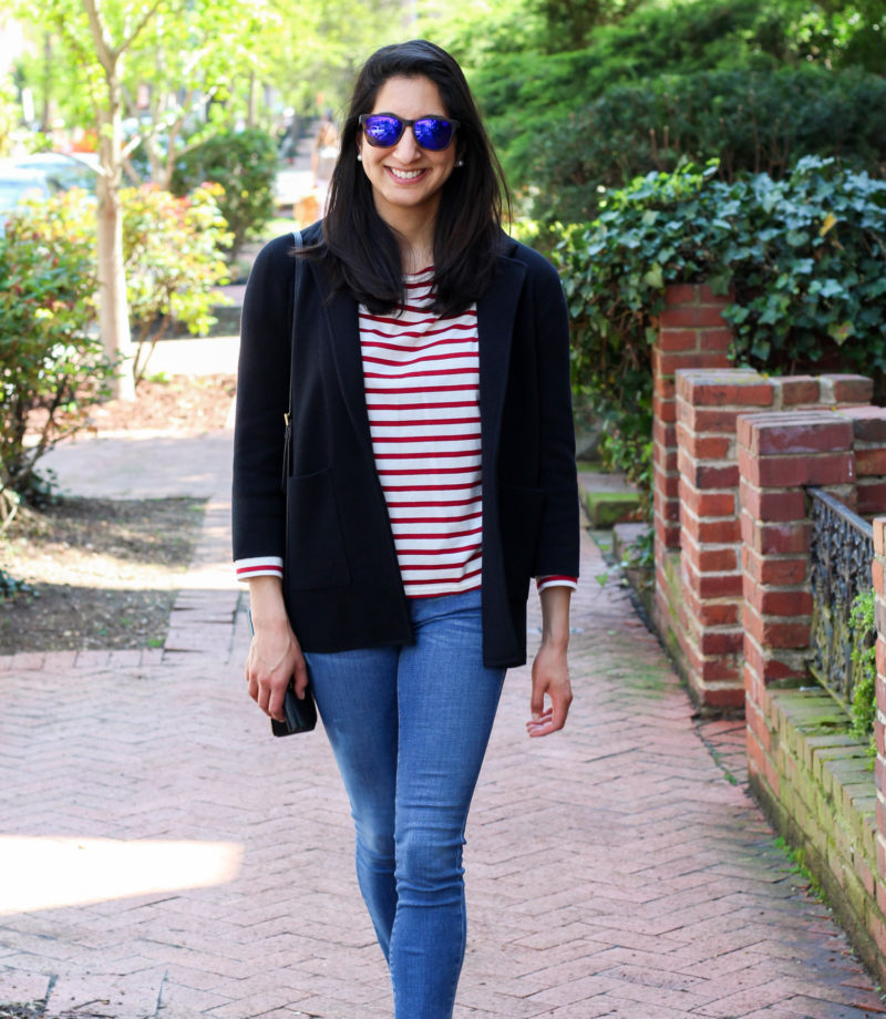 J.Crew sweater blazer for spring
