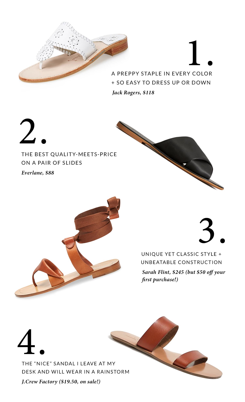 The best flat summer sandals