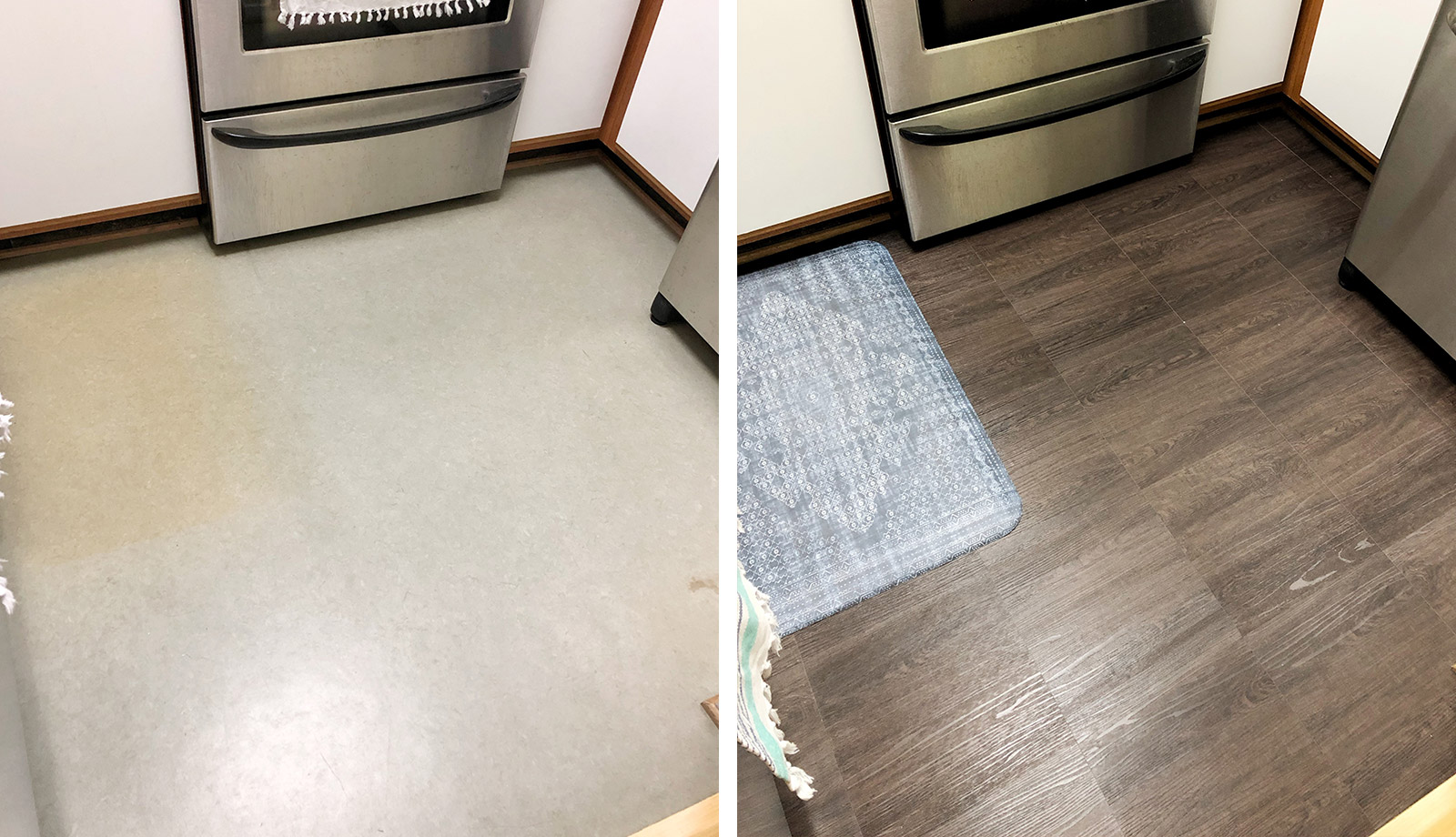 Floor Pops Before & After