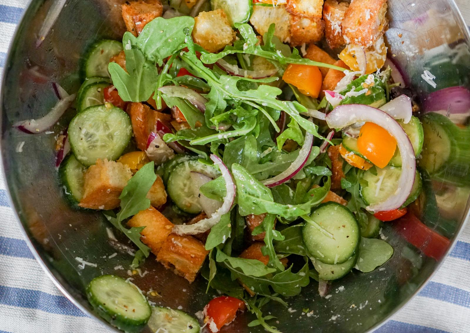 Arugula Panzanella-Inspired Salad