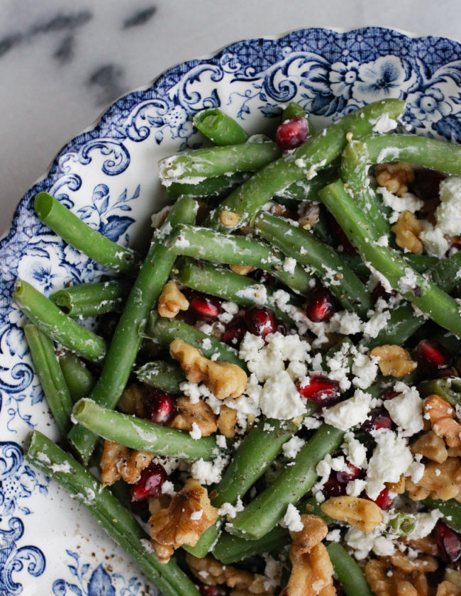 Goat Cheese and Walnut Green Beans